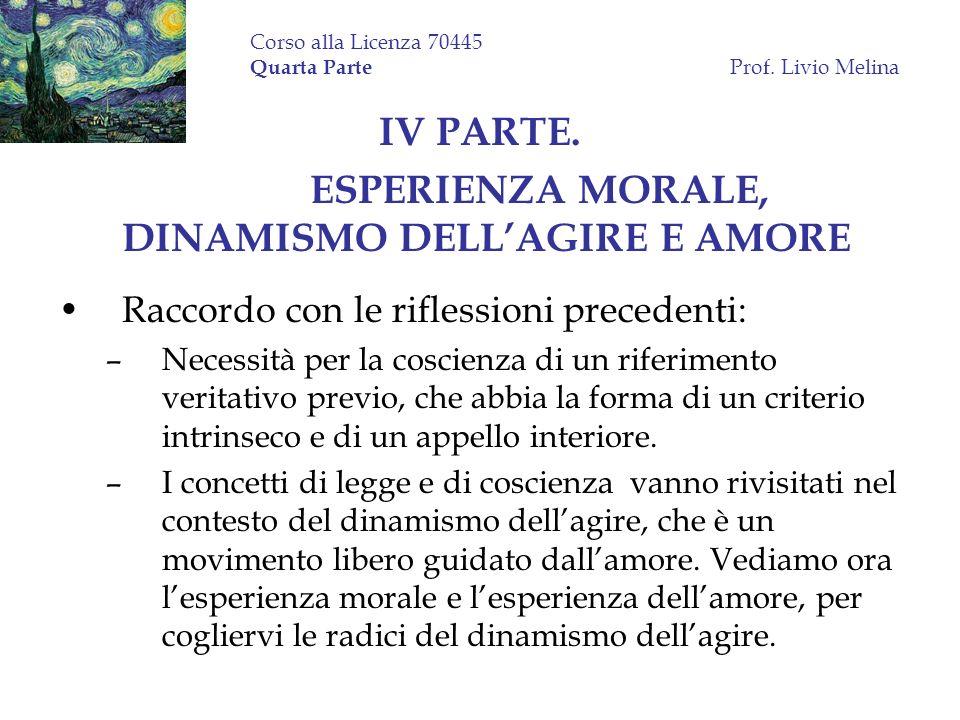 Corso alla Licenza 70445 Quarta Parte Prof. Livio Melina
