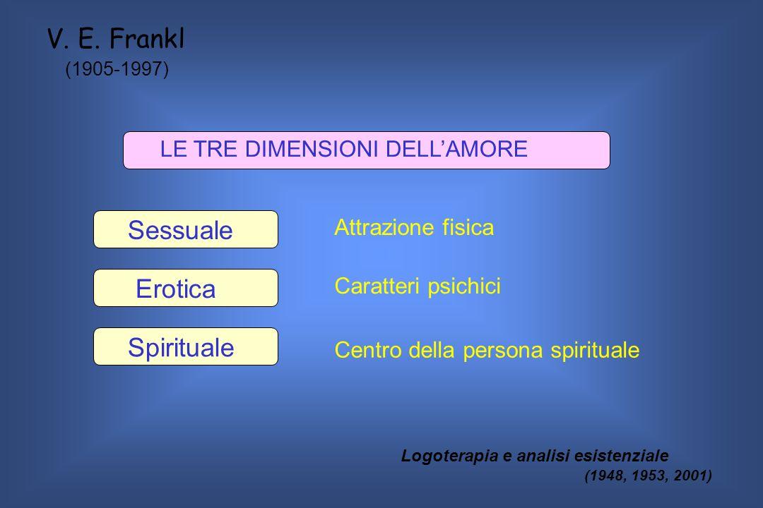 V. E. Frankl Sessuale Erotica Spirituale LE TRE DIMENSIONI DELL'AMORE