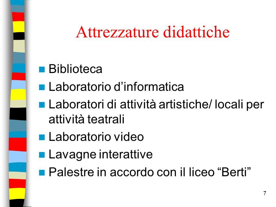 Attrezzature didattiche