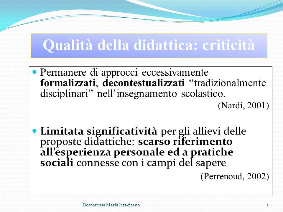 Qualità della didattica: criticità