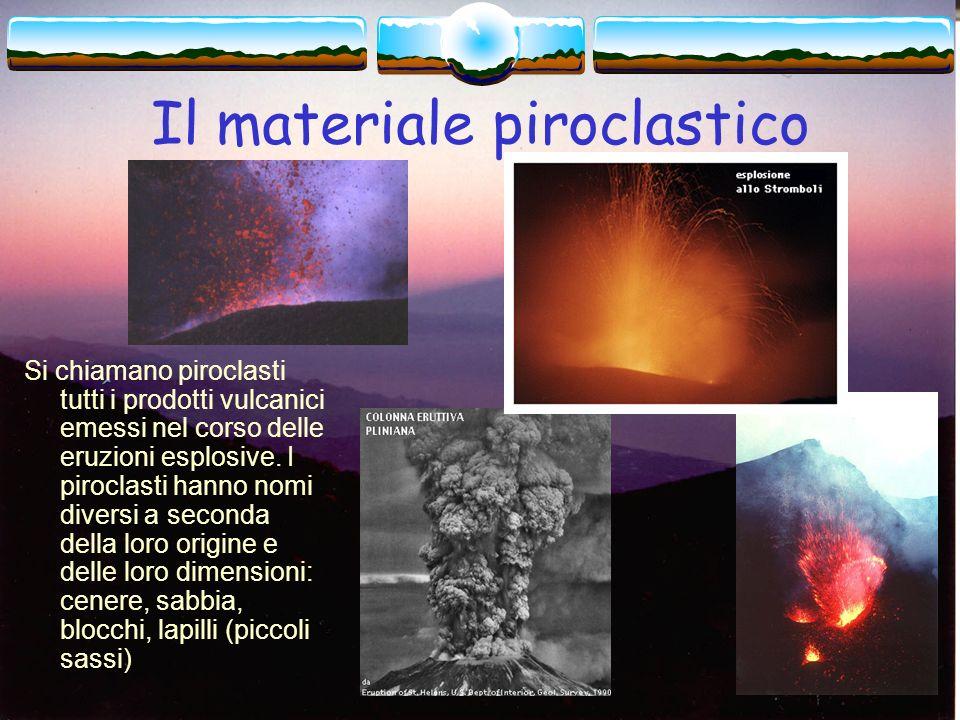 Il materiale piroclastico