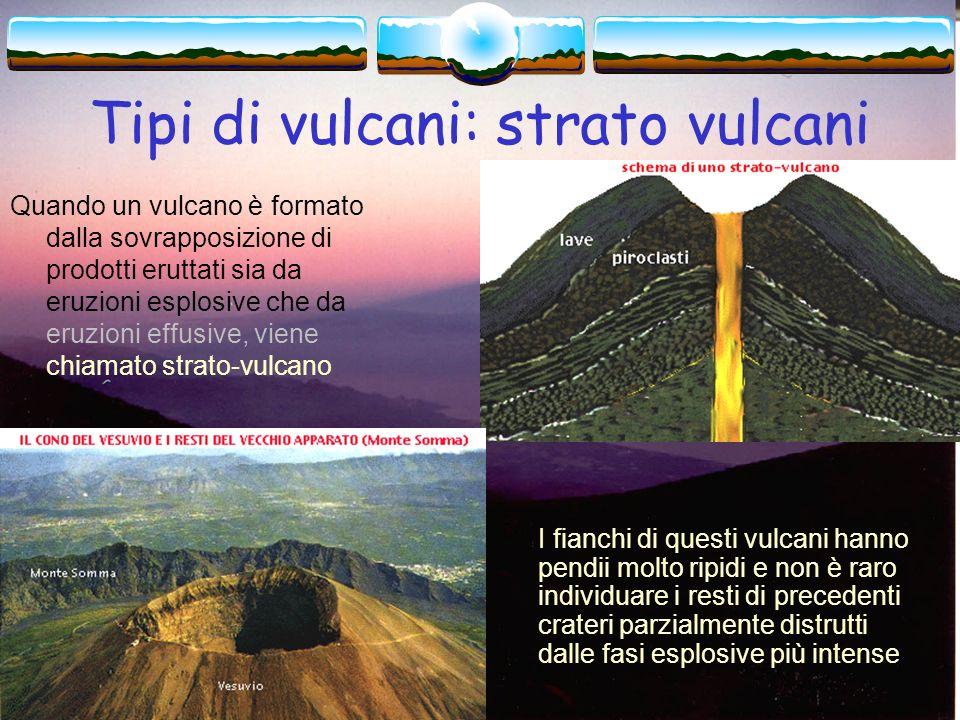 Tipi di vulcani: strato vulcani