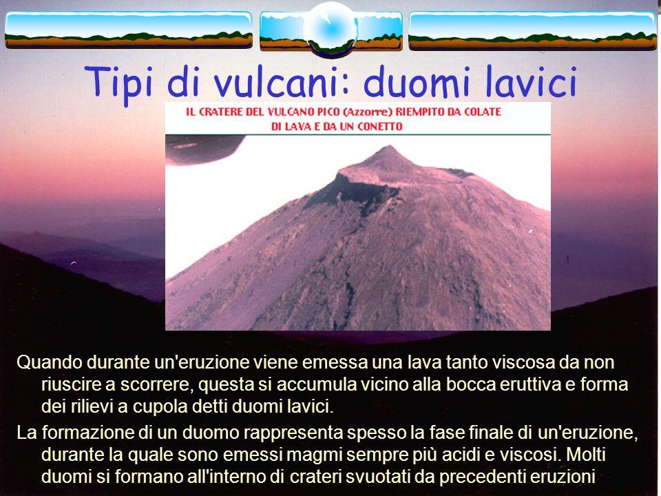 Tipi di vulcani: duomi lavici