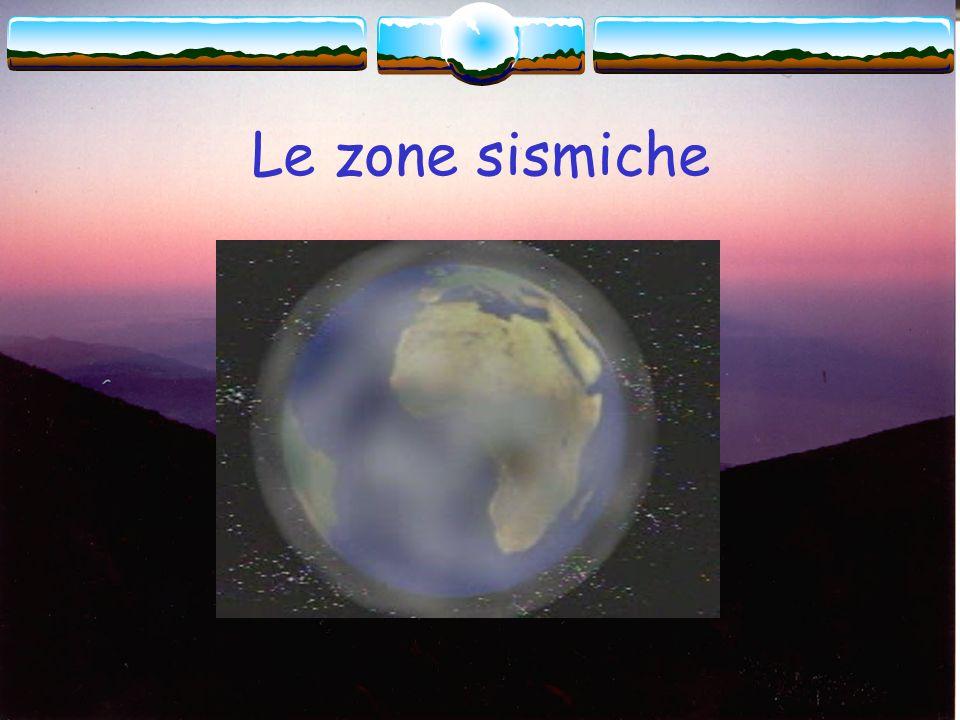 Le zone sismiche