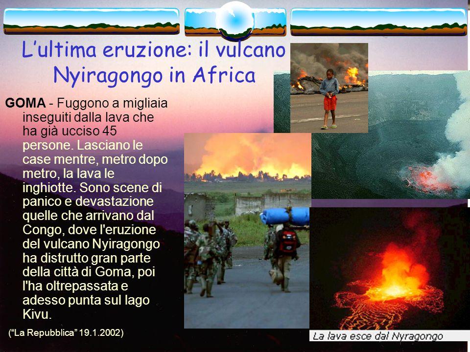 L'ultima eruzione: il vulcano Nyiragongo in Africa