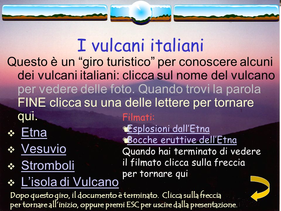 I vulcani italiani