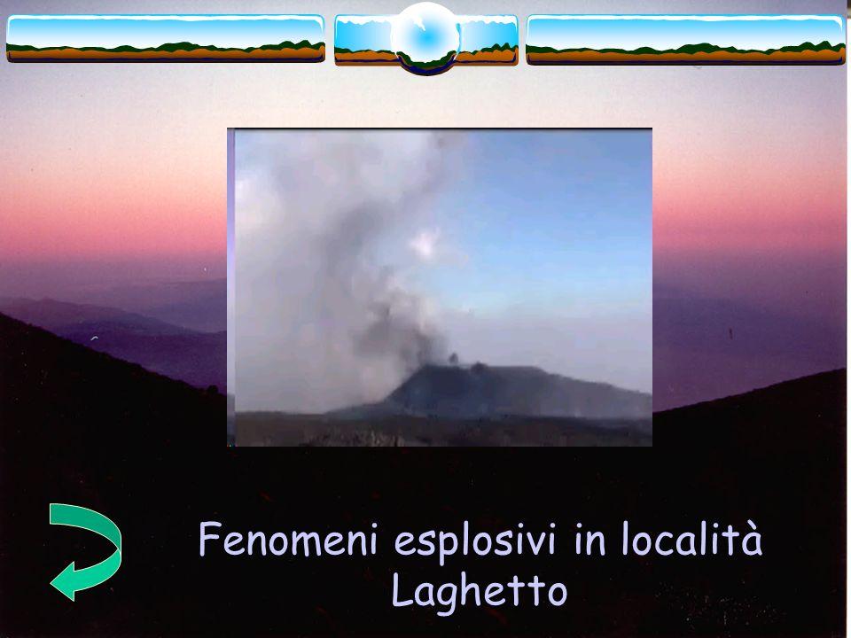 Fenomeni esplosivi in località Laghetto
