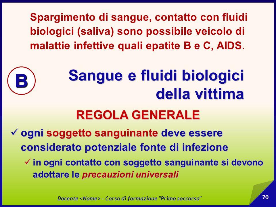 Sangue e fluidi biologici della vittima