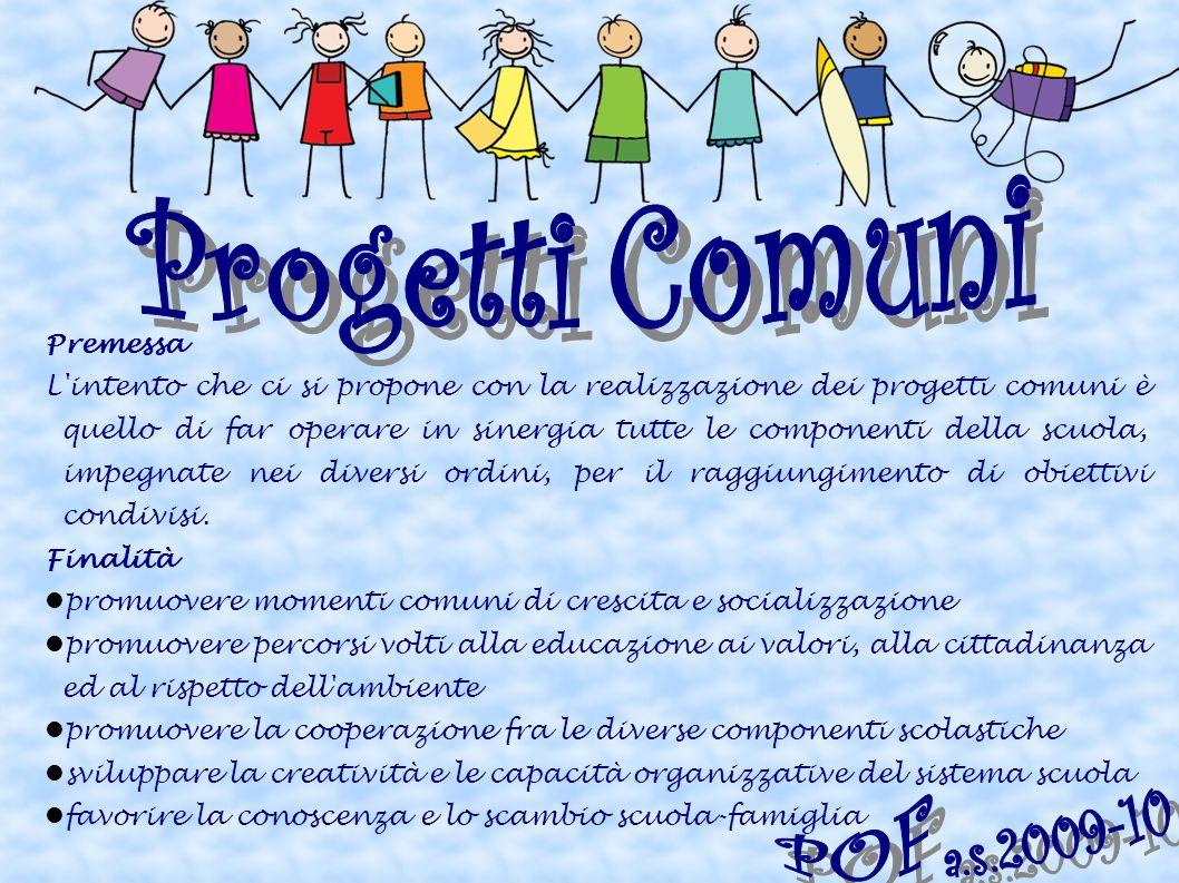 Progetti Comuni POF a.s.2009-10