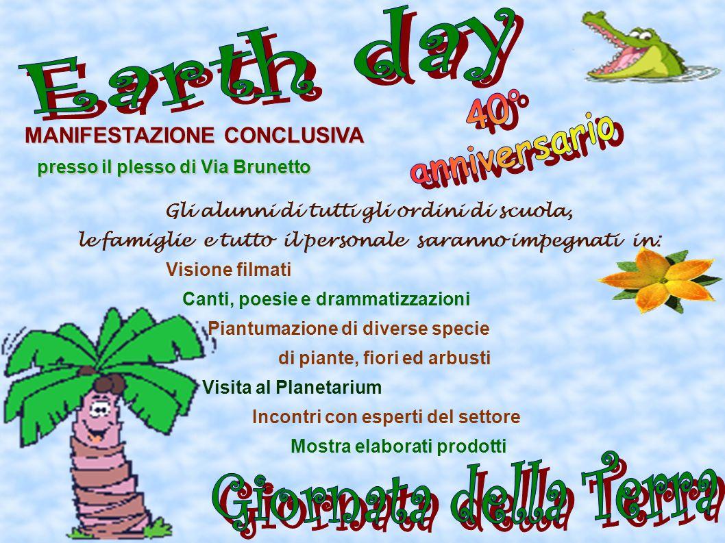 Earth day 40° anniversario Giornata della Terra