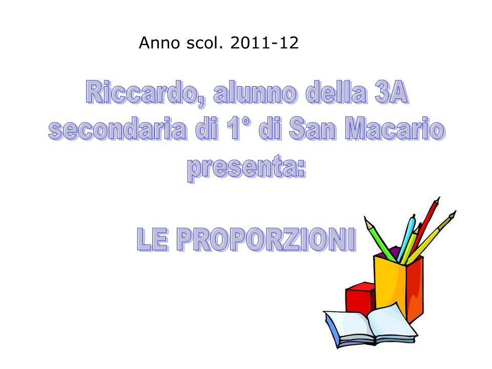 Riccardo, alunno della 3A secondaria di 1° di San Macario presenta: