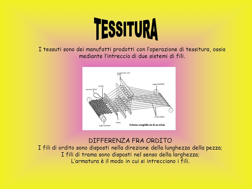 TESSITURA DIFFERENZA FRA ORDITO