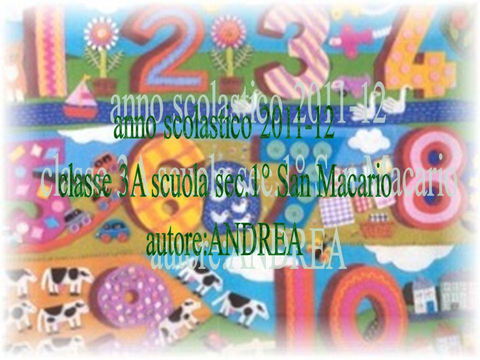 classe 3A scuola sec.1° San Macario