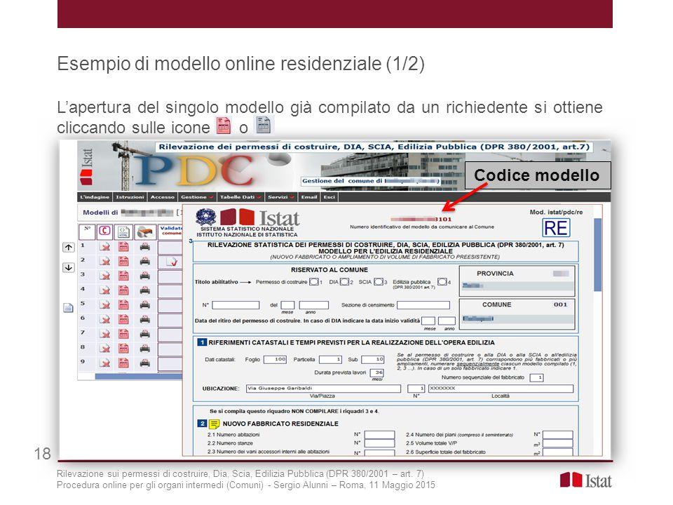 Esempio di modello online residenziale (1/2)
