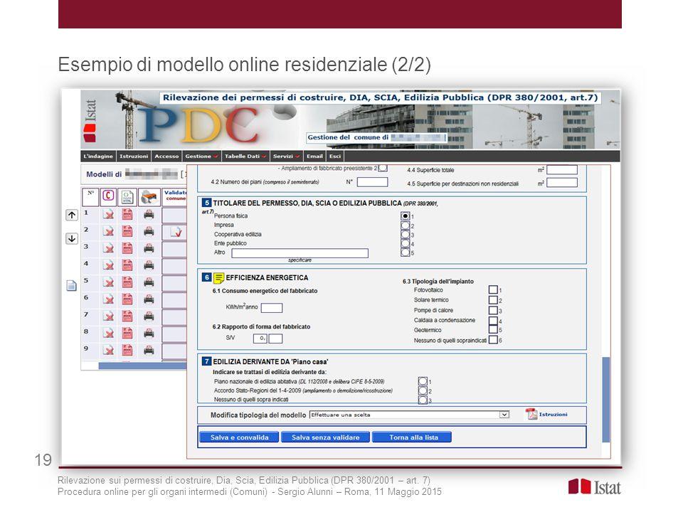 Esempio di modello online residenziale (2/2)