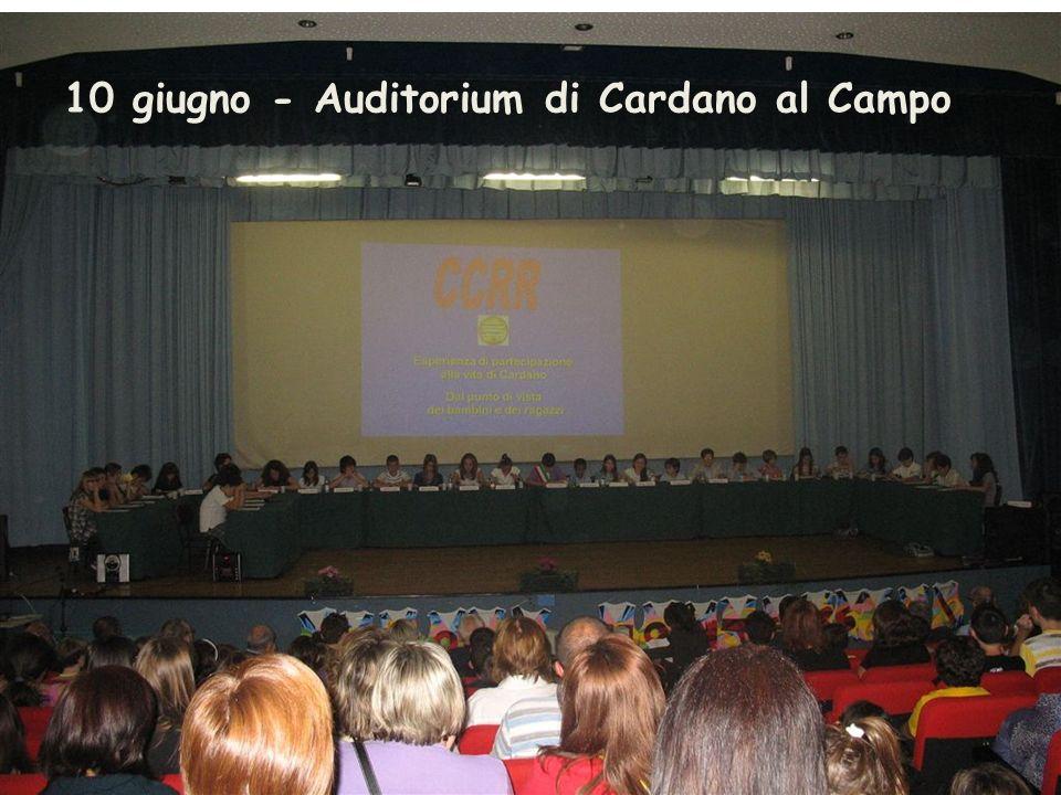 10 giugno - Auditorium di Cardano al Campo