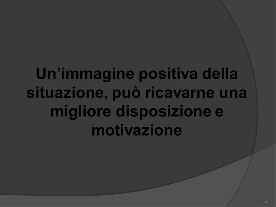 Un'immagine positiva della situazione, può ricavarne una migliore disposizione e motivazione