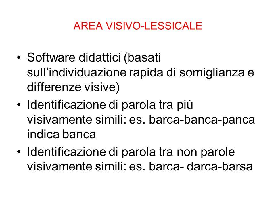 AREA VISIVO-LESSICALE