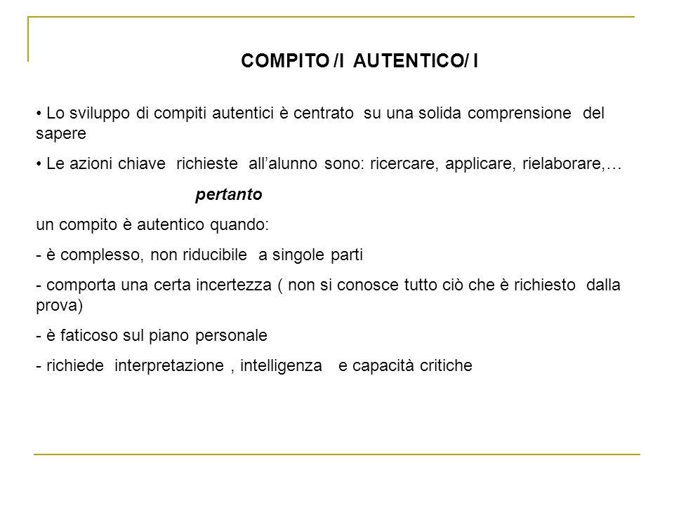 COMPITO /I AUTENTICO/ I