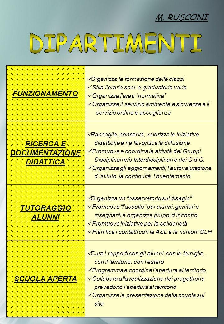RICERCA E DOCUMENTAZIONE DIDATTICA