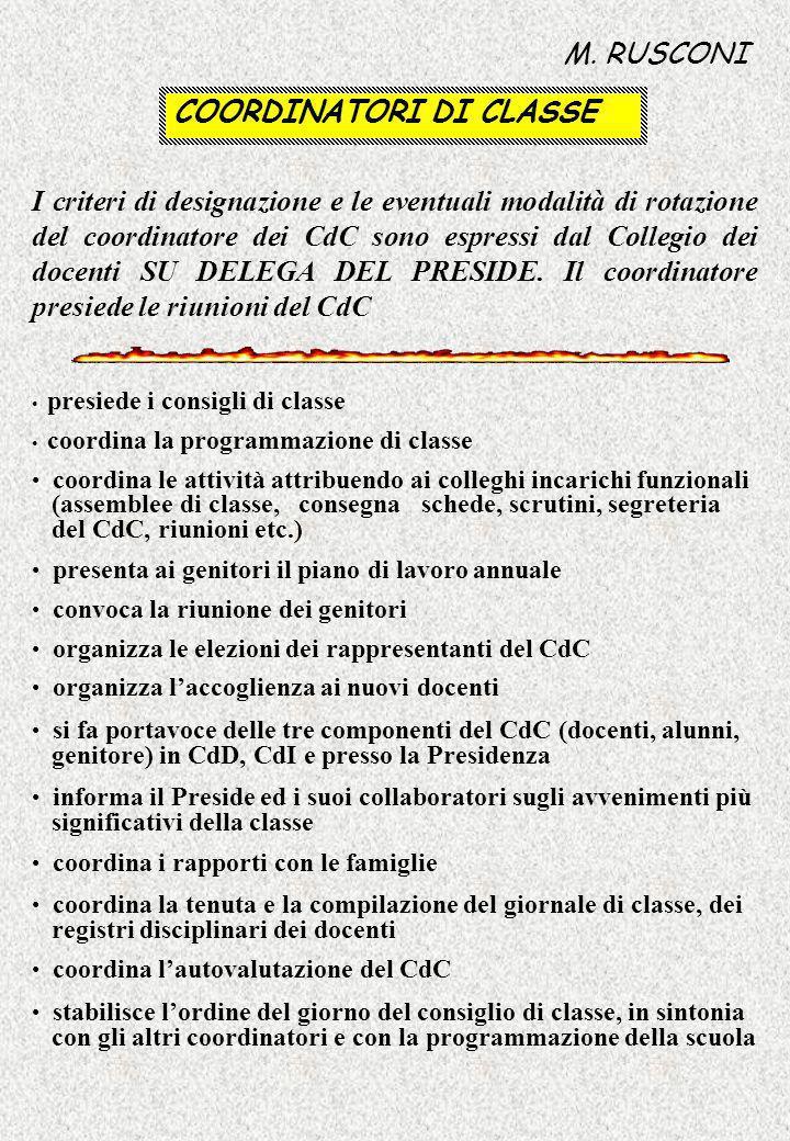 COORDINATORI DI CLASSE