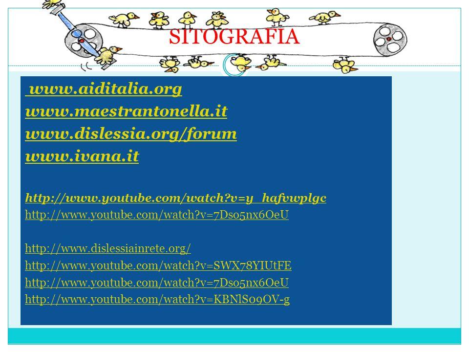 SITOGRAFIA www.aiditalia.org www.maestrantonella.it
