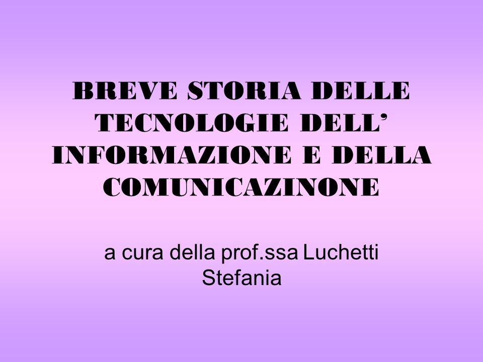 a cura della prof.ssa Luchetti Stefania