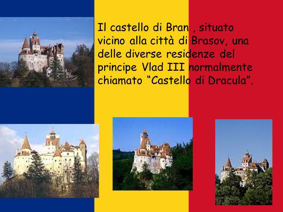 Il castello di Bran , situato vicino alla città di Brasov, una delle diverse residenze del principe Vlad III normalmente chiamato Castello di Dracula .