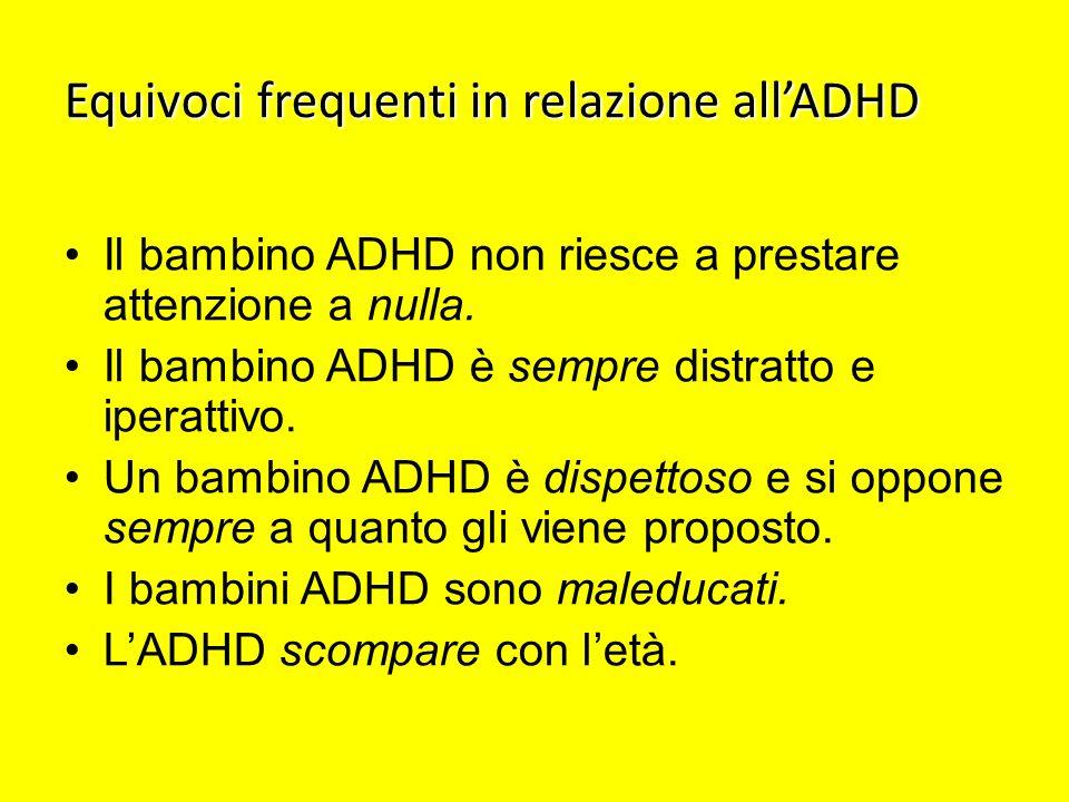 Equivoci frequenti in relazione all'ADHD