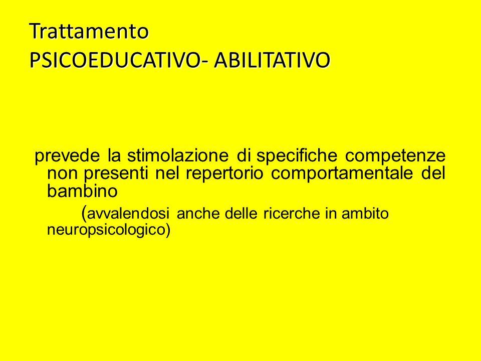 Trattamento PSICOEDUCATIVO- ABILITATIVO