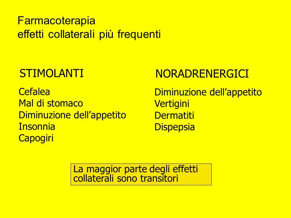 Farmacoterapia effetti collaterali più frequenti