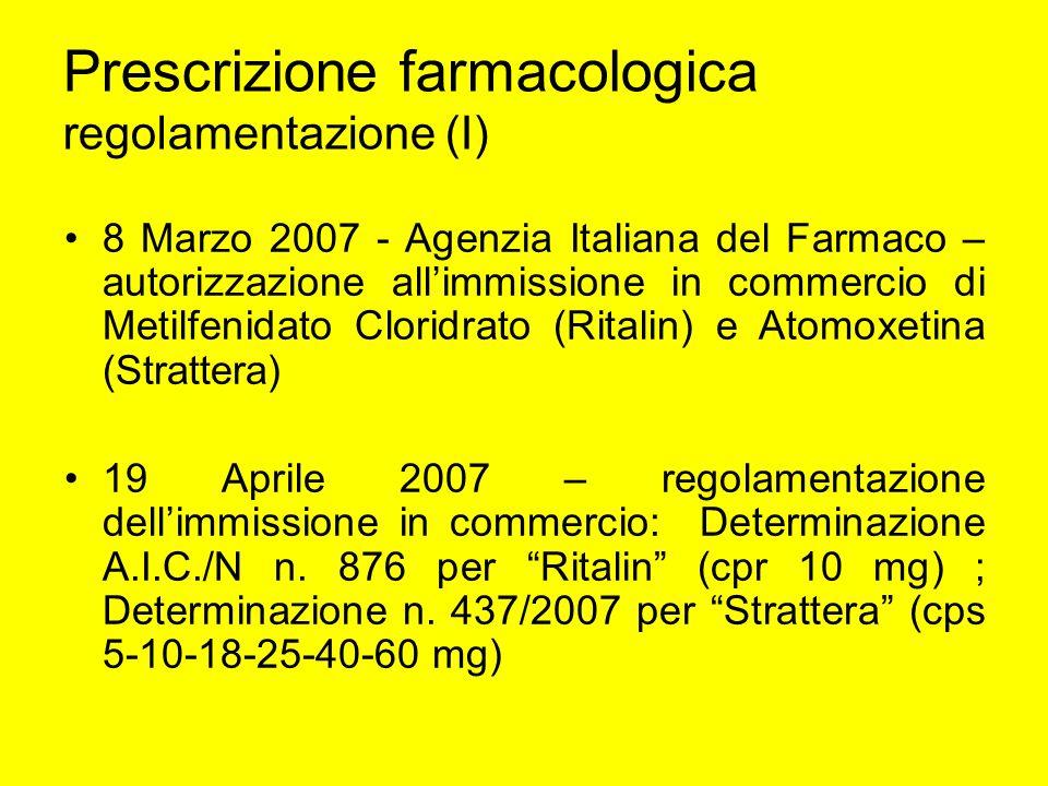 Prescrizione farmacologica regolamentazione (I)