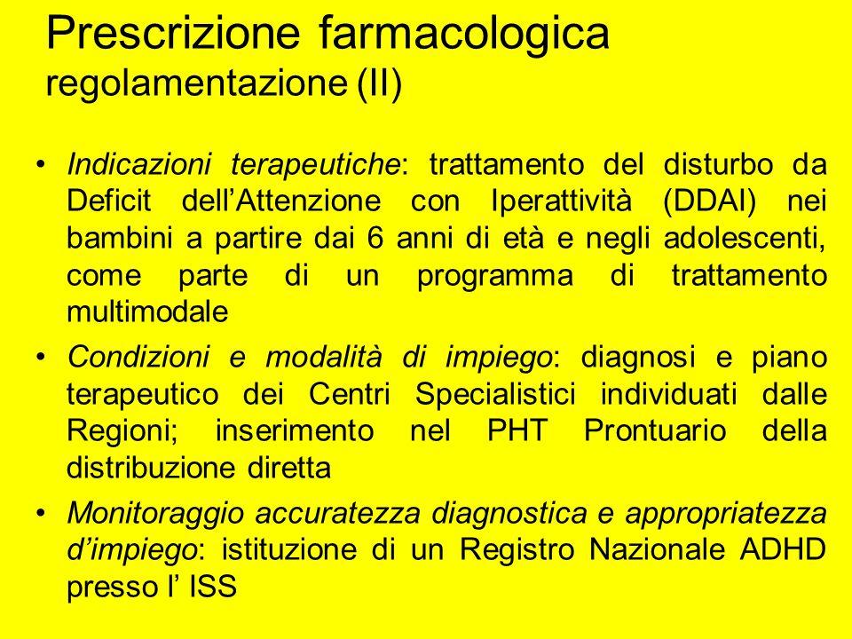 Prescrizione farmacologica regolamentazione (II)