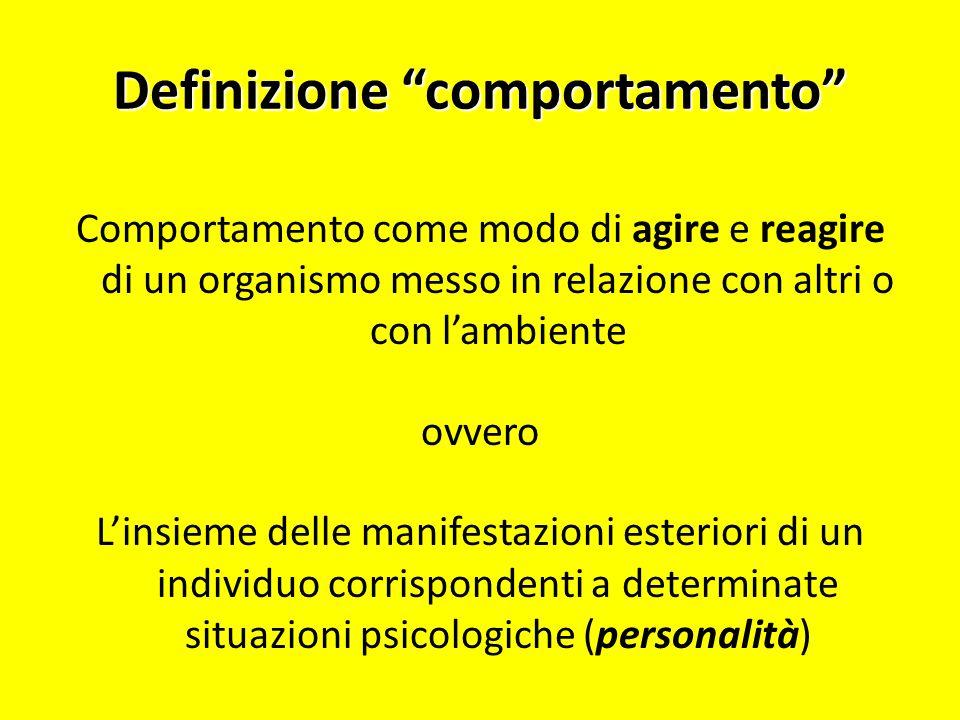 Definizione comportamento