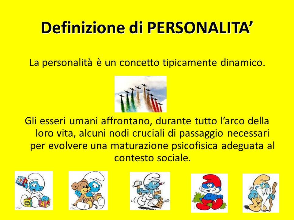 Definizione di PERSONALITA'