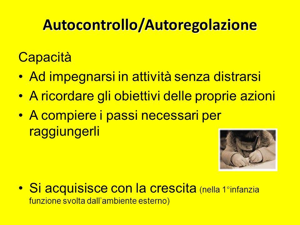 Autocontrollo/Autoregolazione