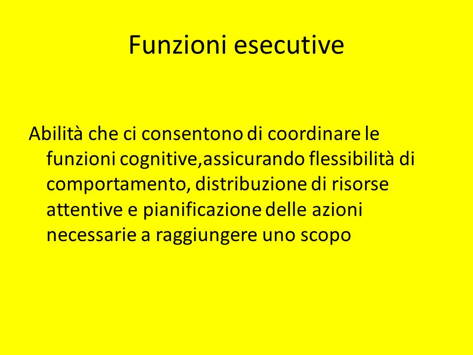 Funzioni esecutive
