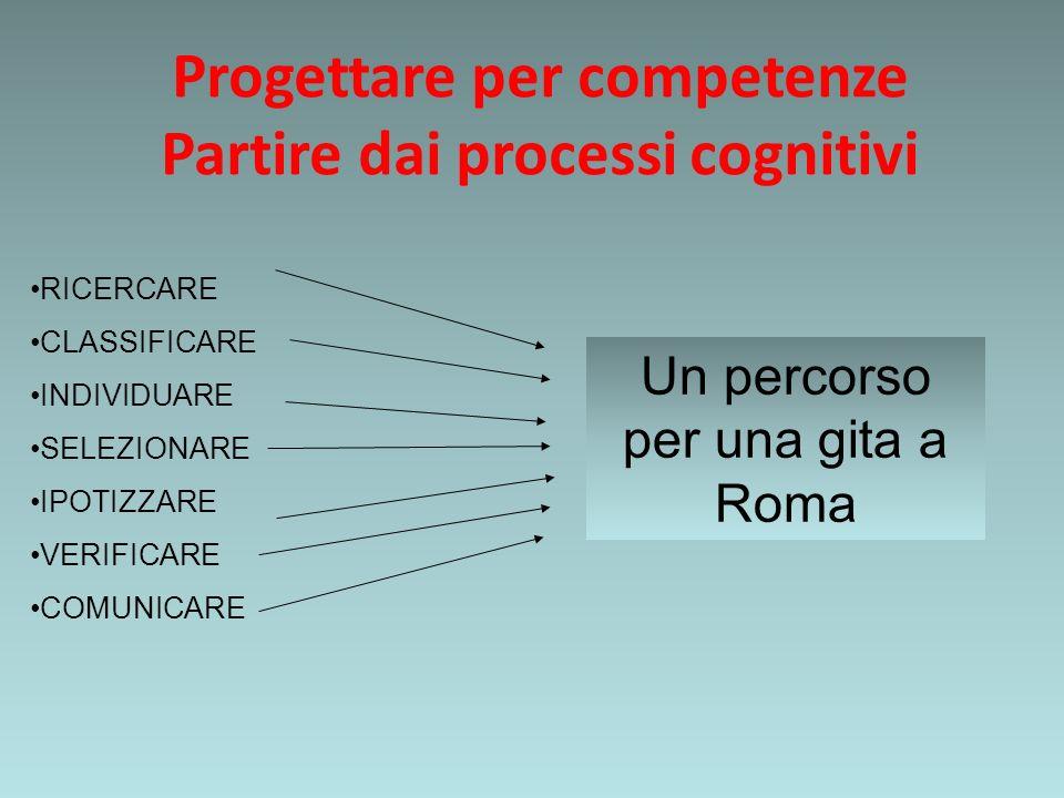 Progettare per competenze Partire dai processi cognitivi