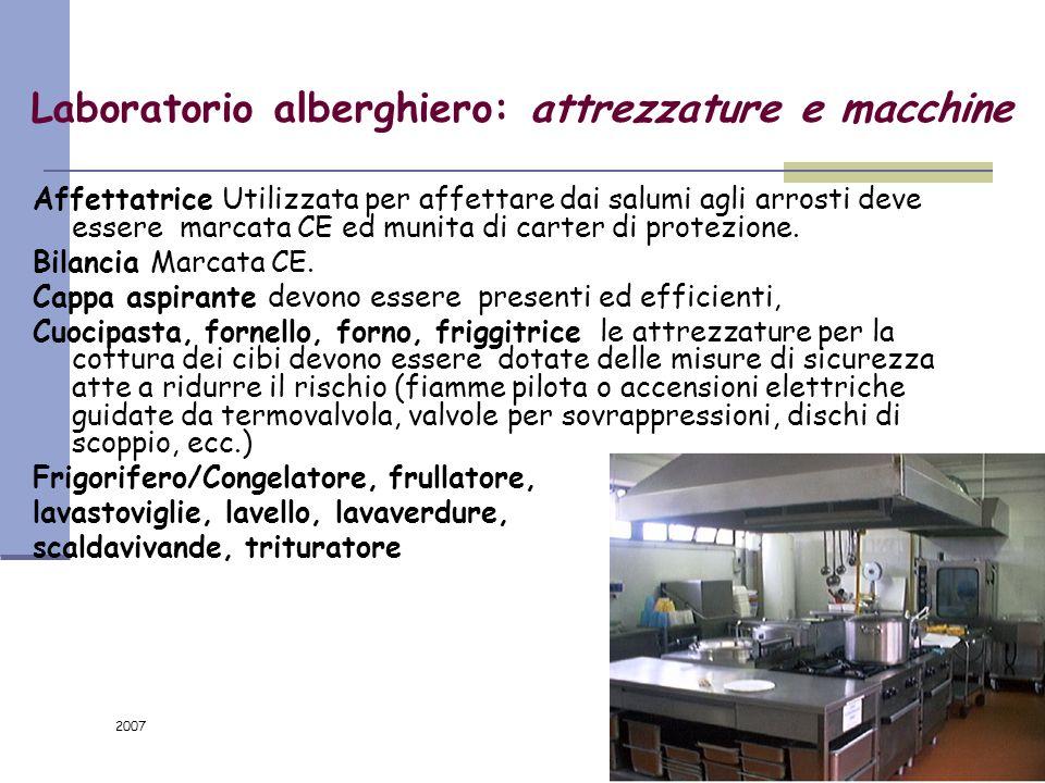 Laboratorio alberghiero: attrezzature e macchine