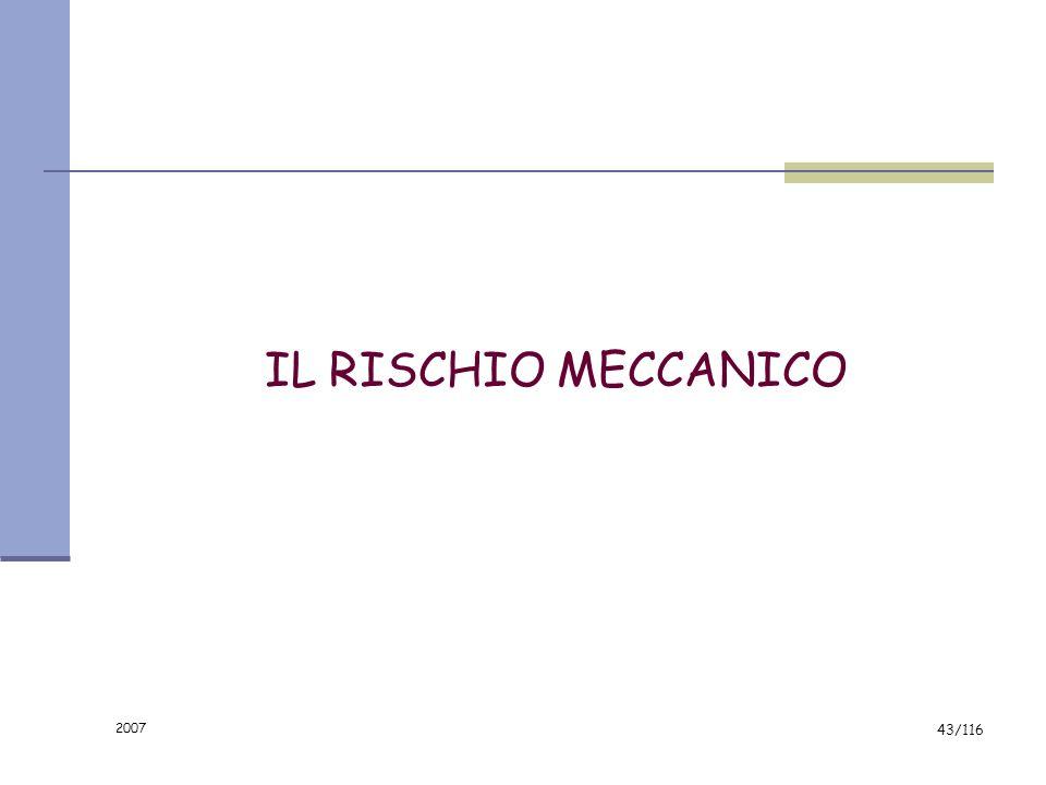 IL RISCHIO MECCANICO 2007