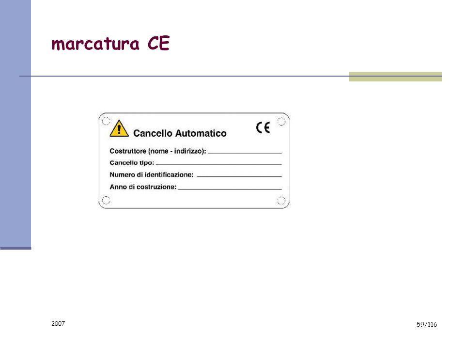 marcatura CE 2007
