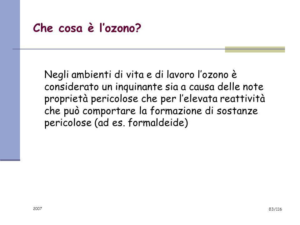 Che cosa è l'ozono