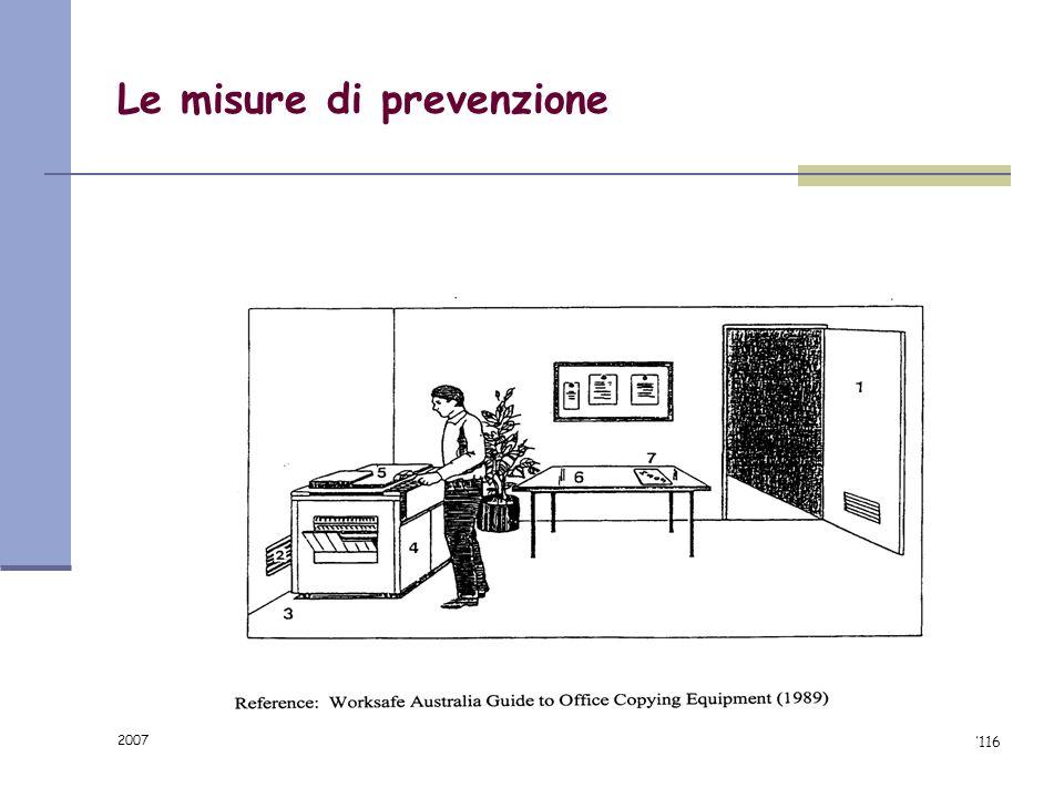 Le misure di prevenzione