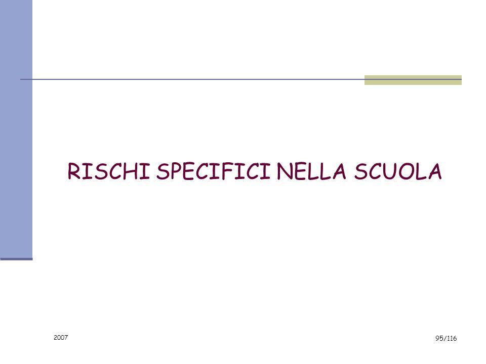 RISCHI SPECIFICI NELLA SCUOLA