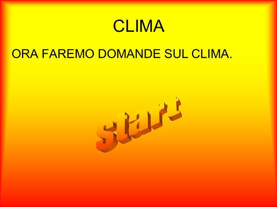CLIMA ORA FAREMO DOMANDE SUL CLIMA. start