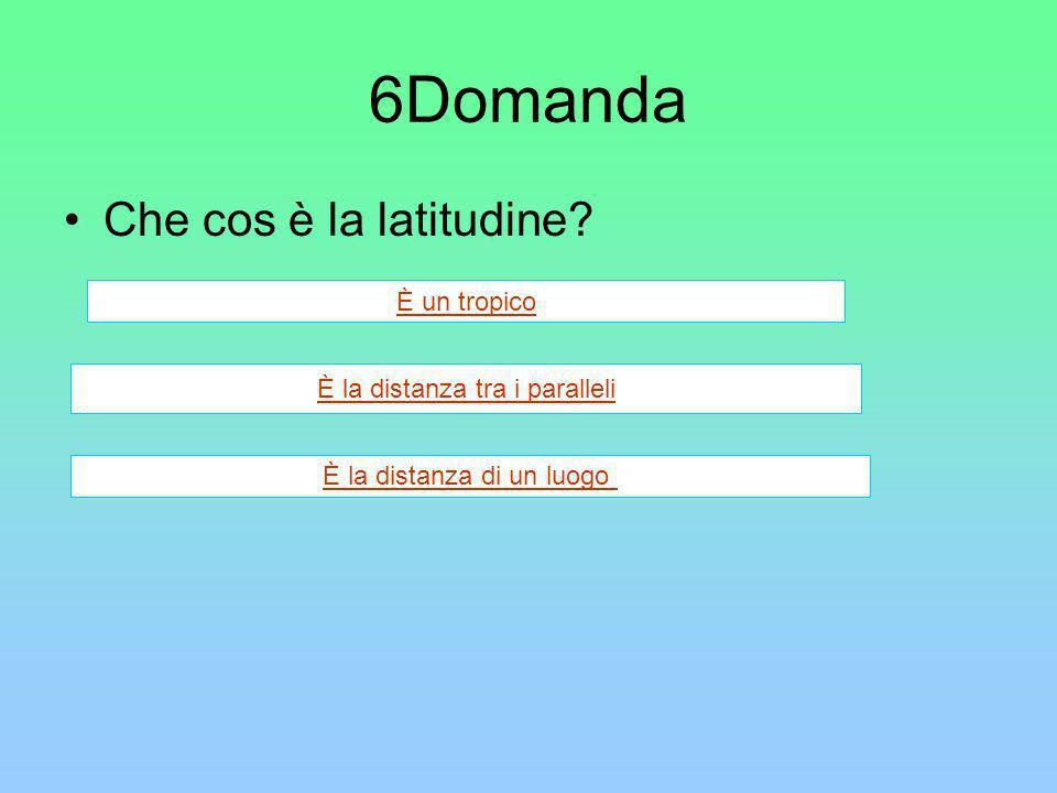 6Domanda Che cos è la latitudine È un tropico