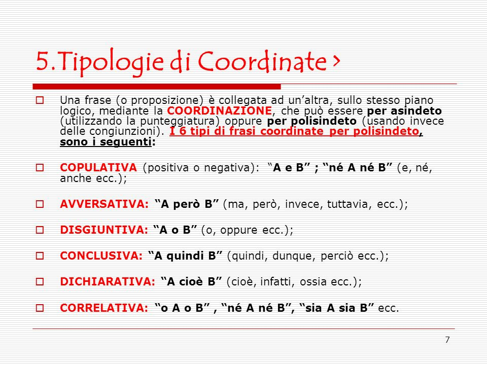 5.Tipologie di Coordinate >