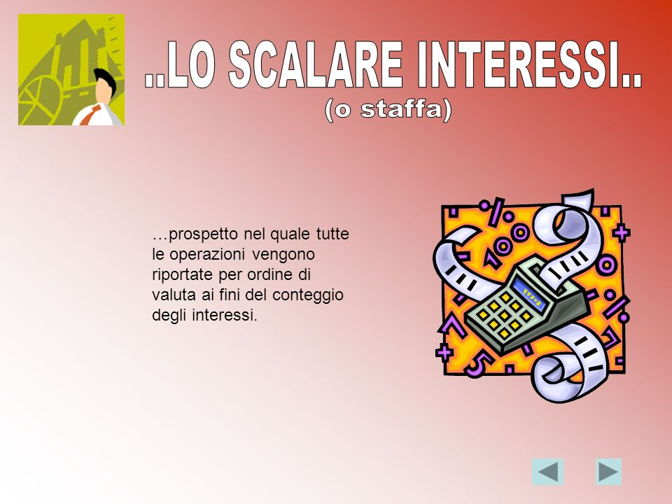..LO SCALARE INTERESSI.. (o staffa)