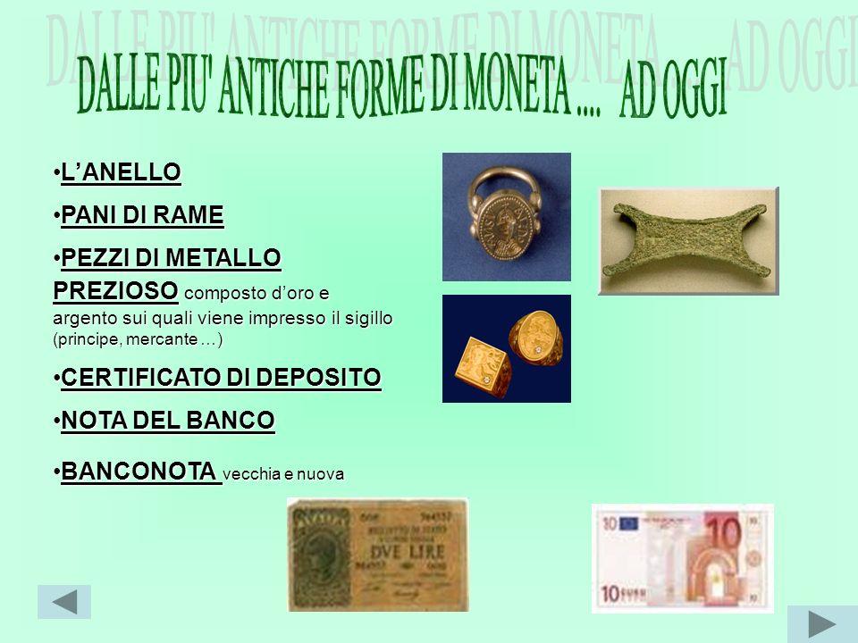 DALLE PIU ANTICHE FORME DI MONETA .... AD OGGI