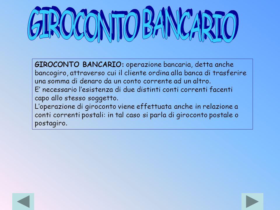 GIROCONTO BANCARIO